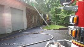 Engine 72 and Truck 7 responded to this house fire in Mechanicsville