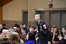 Tyler Brady receiving the Most Promising Firefighter Award