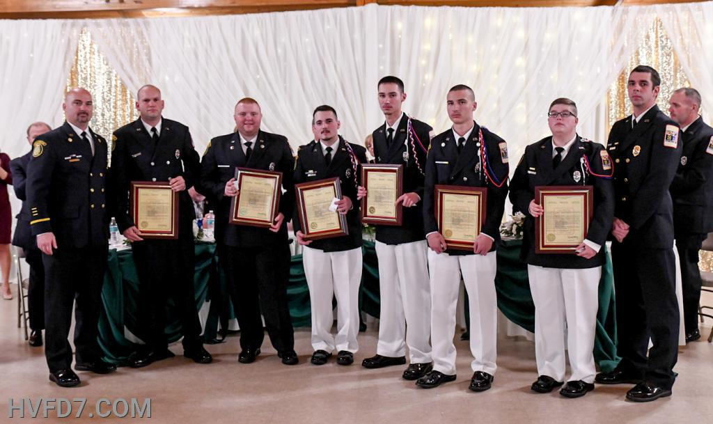 A Special Congratulations to HVFD Engineer Grant Mattingly, Lieutenant Tyler Insley, FF Jason Sullivan, FF Drew Wallace, FF Tyler Brady, and FF Ashley Windsor who were presented LIFE SAVING AWARDS for their life-saving efforts to revive an infant whom was in Cardiac Arrest on September 16, 2019.  Their life-saving efforts resulted in this infant being healthy today.  JOB WELL DONE!!! Pictured from (L) to (R) - Fire Chief Ricky Brady, Engineer Grant Mattingly, Lieutenant Tyler Insley, FF Jason Sullivan, FF Drew Wallace, FF Tyler Brady, FF Ashley Windsor and Assistant Fire Chief Ernest Rogers.  Presented by Fire Chief Ricky Brady and Assistant Fire Chief Ernest Rogers.