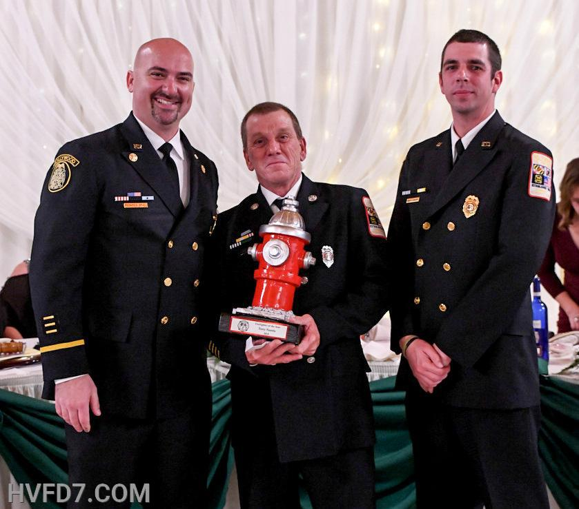 Congratulations to HVFD Engineer Tony Norris for being presented the 2019 Fire Fighter of The Year Award.  Pictured from (L) to (R) Fire Chief Ricky Brady, Engineer Tony Norris and Assistant Fire Chief Ernest Rogers.