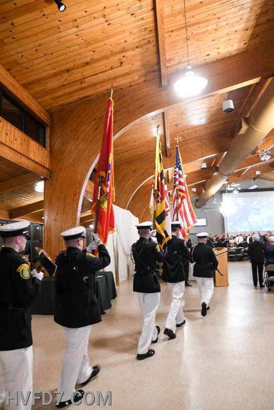 Retirement of Colors by HVFD Honor Guard