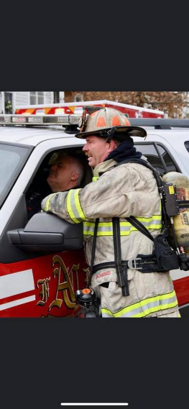 Action Photo of Retired Battalion Fire Chief Doug Insley.  CONGRATULATIONS on 28 Years of dedicated service to Arlington County Fire Department.