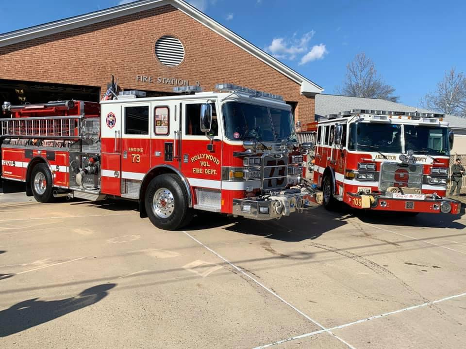Several Officers and Members of HVFD paid a surprise visit to Chief Insley on his last day Thursday 16 January 2020.