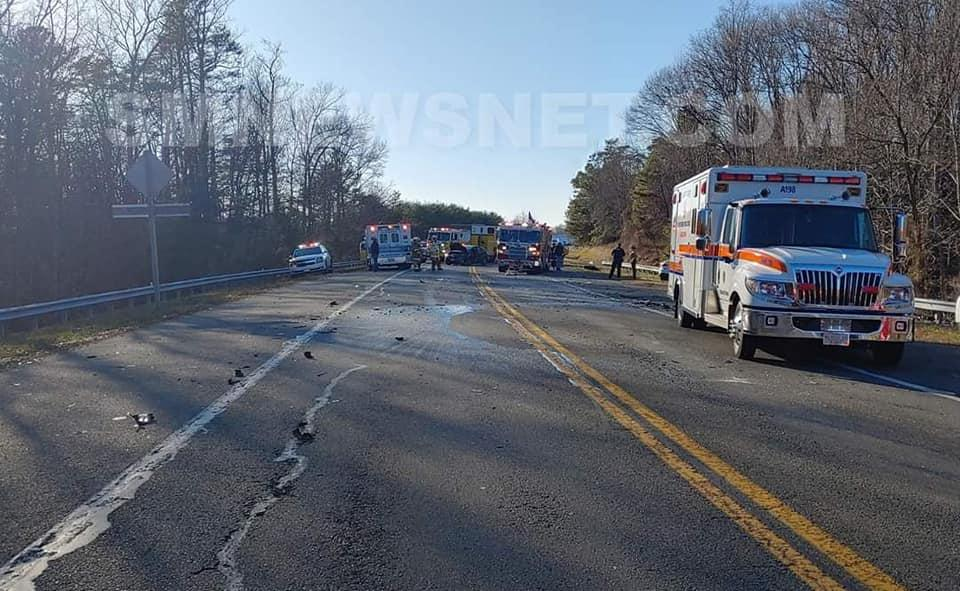 Patuxent Beach Road was shut down for a period of time to allow for Crews to working Safely extricated the patients.