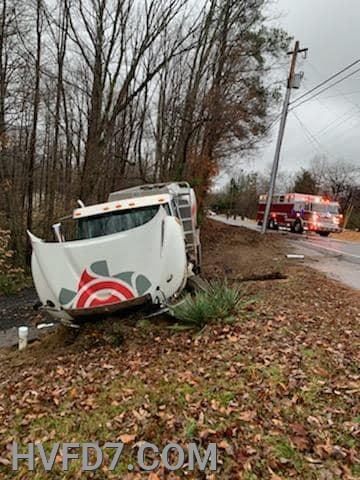 Oil Truck off the roadway at 26800 Block North Sandgates Road
