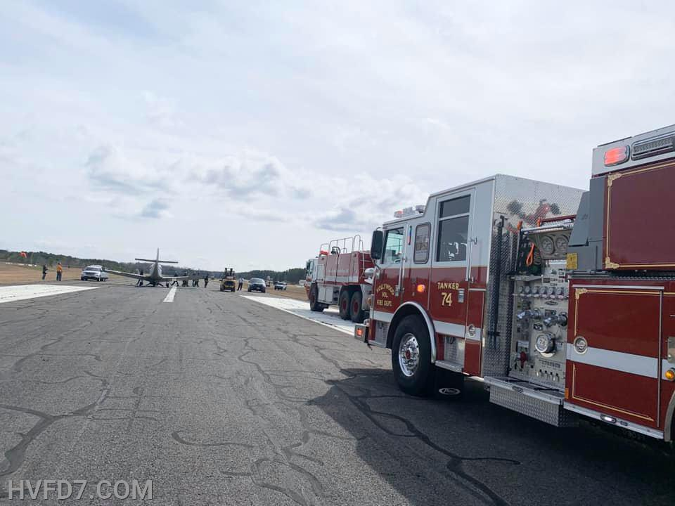 Units standing by on the scene awaiting the Aircraft to be secured and the incident to be turned over to the Staff of St. Mary's County Airport.