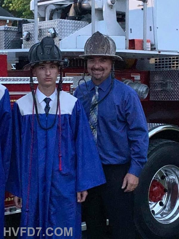 (L) to (R)  LT. Tyler Brady and Fire Chief Ricky Brady