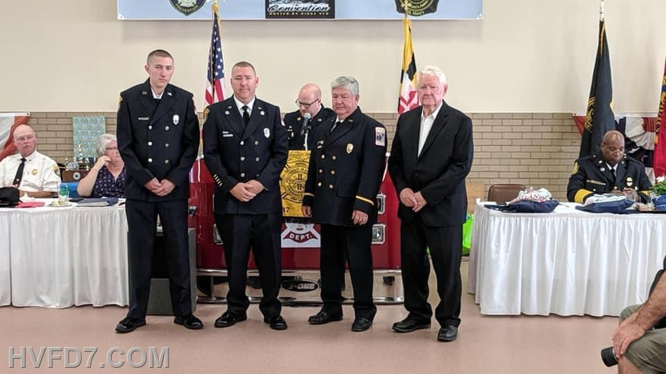 (L) to (R) FF Timmy Pilkerton, FF Dale Pilkerton, Jr., Past Chief Dale Pilkerton, Sr. and Archie Pilkerton