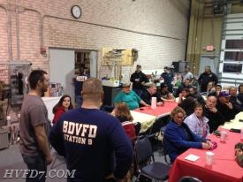 Members of HVFD at a Thank you Dinner at Station 9