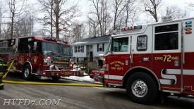 Solomons Engine 33 and Hollywood Engine 72 operating on the scene of this House Fire